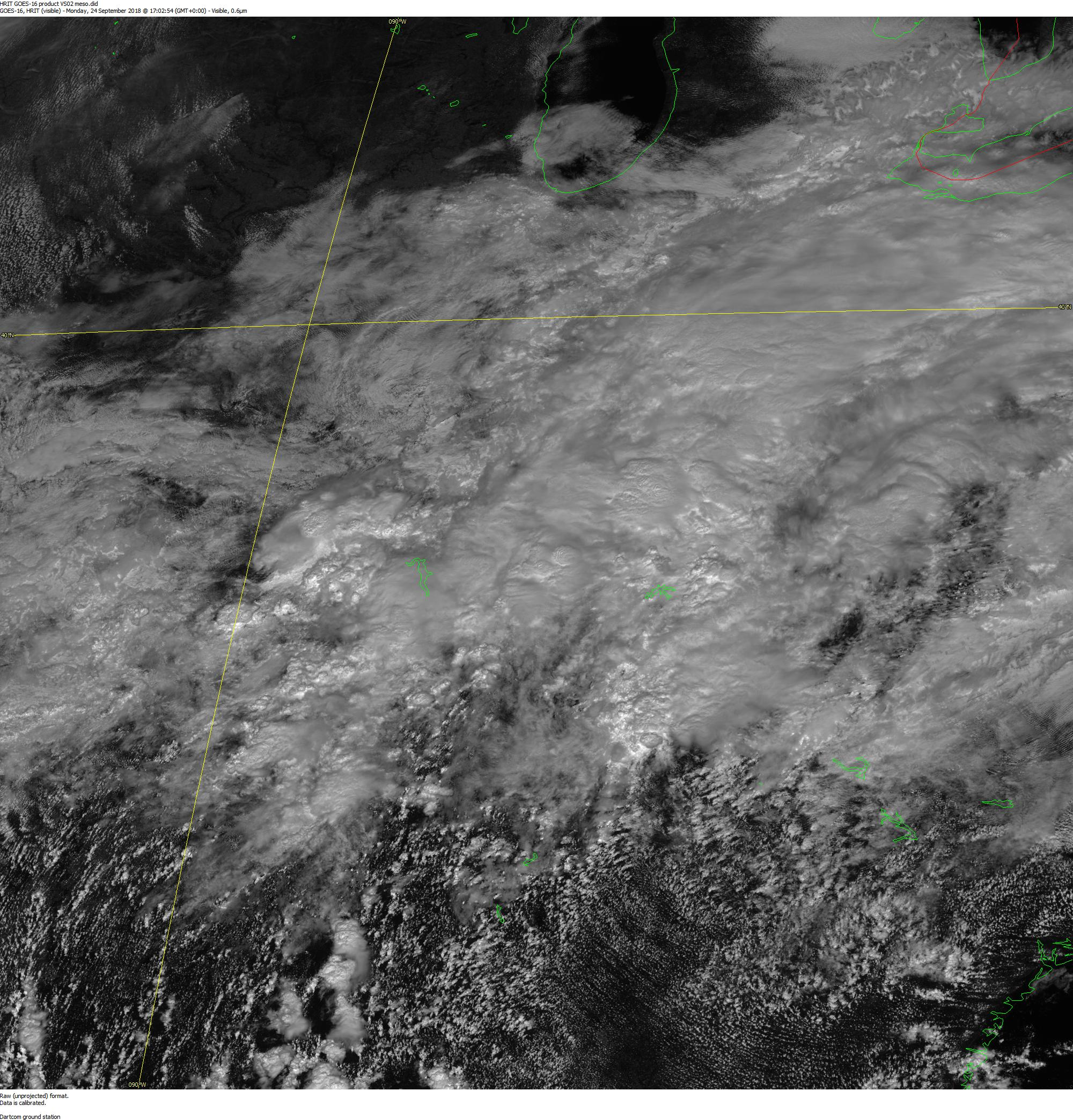 GOES-16 Visual Band 2 Mesoscale Imagery